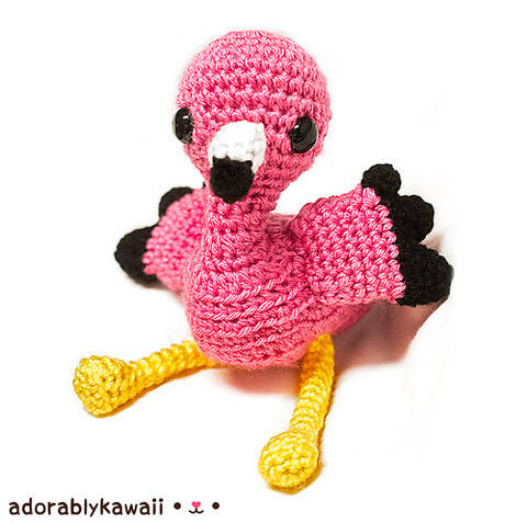 Download Pink Flamingo Amigurumi Crochet Pattern immediately at Makerist