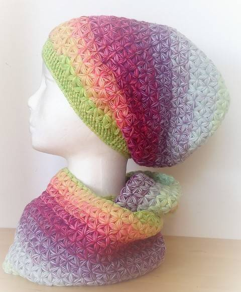 "crochet pattern Long Beanie ""Stars"" at Makerist"