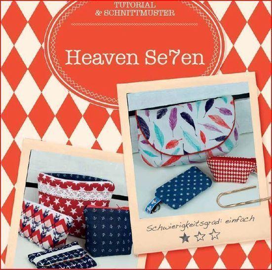 """""""Heaven Seven"""" - 7 Täschchen in einem Ebook - Nähanleitungen bei Makerist sofort runterladen"""