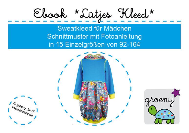 Ebook *Lütjes Kleed* Kleid für Mädchen Größe 92-164 - Nähanleitungen bei Makerist sofort runterladen