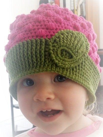 """Häkelanleitung Baby/Kinder Mütze """"Raspberry"""" - Häkelanleitungen bei Makerist sofort runterladen"""