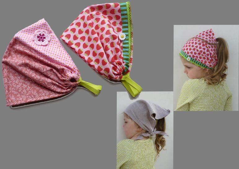 Bandana Kopftuch schnell und einfach  in 2 Varianten - Nähanleitungen bei Makerist sofort runterladen