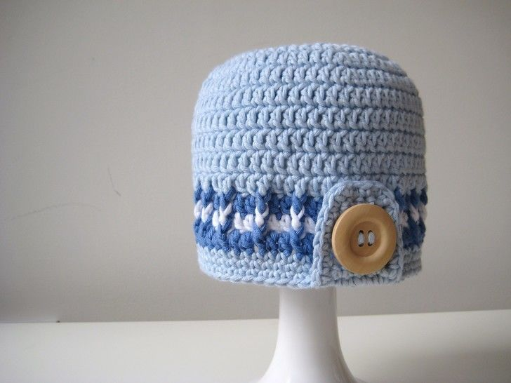 Download Crochet Hat, Surfer Boy Hats, Pattern No5, in both UK and US crochet terms - Crochet Patterns immediately at Makerist
