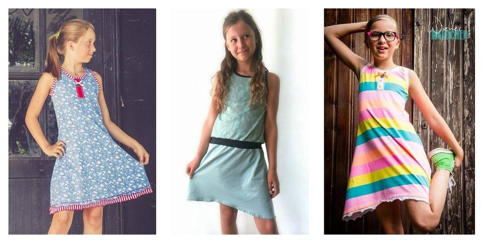 """Jerseykleid """"Luisa"""", Nähanleitung und Schnittmuster für die Größen 98 bis 164 - Nähanleitungen bei Makerist sofort runterladen"""