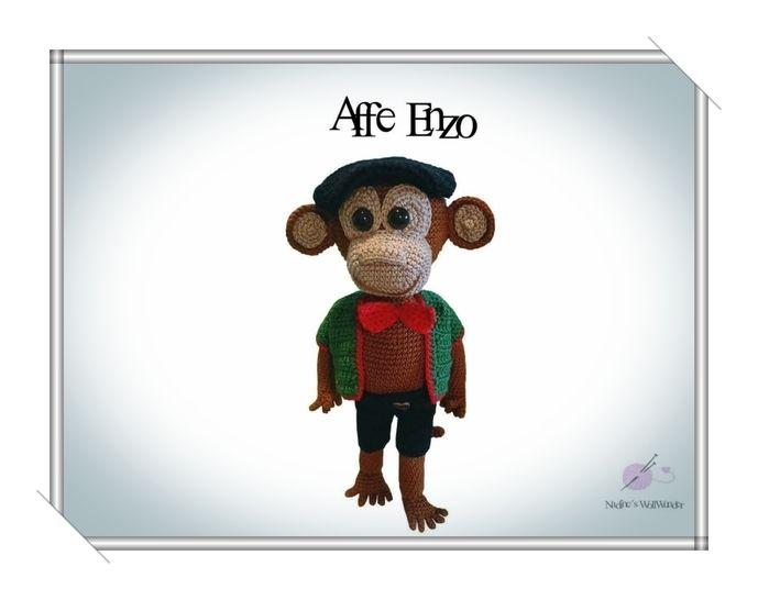 Häkelanleitung: Affe Enzo - Häkelanleitungen bei Makerist sofort runterladen