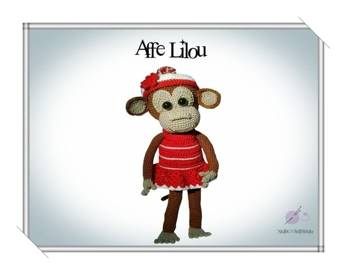 Häkelanleitung: Affe Lilou - Häkelanleitungen bei Makerist sofort runterladen