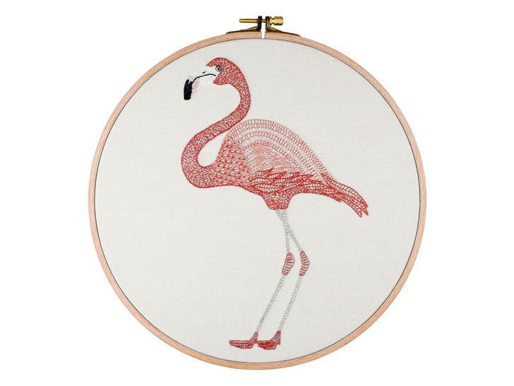 Flamingo Stickmuster und Anleitung - Stickmuster bei Makerist sofort runterladen