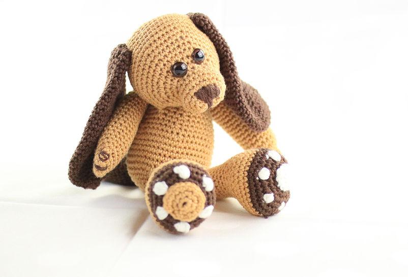 Häkelanleitung: Kleiner Hund Flecky - Häkelanleitungen bei Makerist sofort runterladen