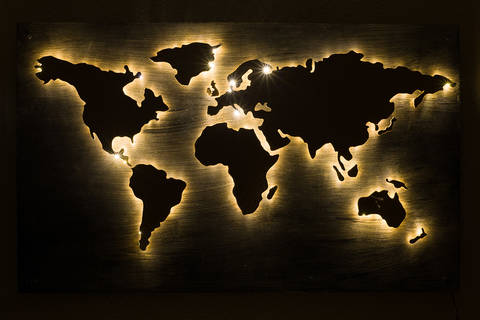 Bastelanleitung: Die Welt als Pinnwand bei Makerist sofort runterladen