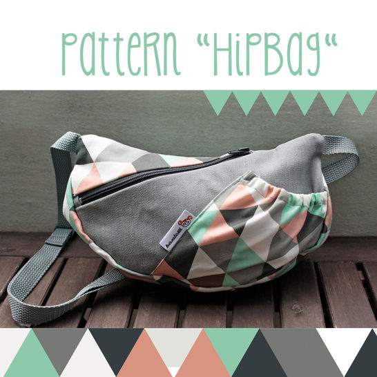 Download HipBag, belt pouch -  sewing pattern and detailed instructions - Sewing Patterns immediately at Makerist
