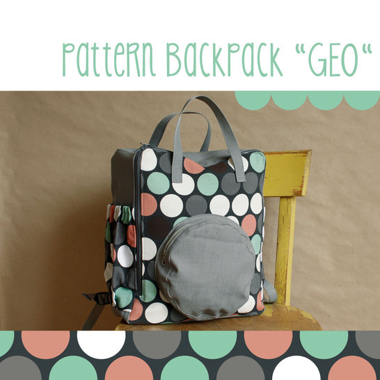 Download Rucksack, backpack GEO - pattern and detailed sewing instruction - Sewing Patterns immediately at Makerist