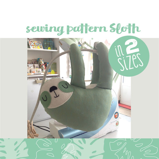 Download Sloth plushie, cuddly toy - sewing instructions - Sewing Patterns immediately at Makerist