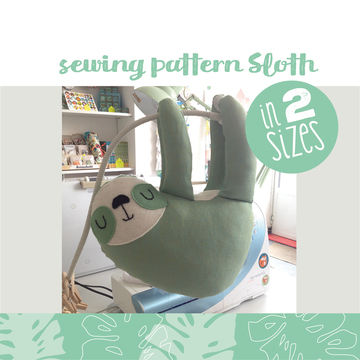 Download Sloth plushie, cuddly toy - pattern and detailed sewing instructions - Sewing Patterns immediately at Makerist