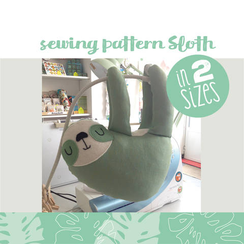Download Sloth plushie, cuddly toy - sewing instructions immediately at Makerist