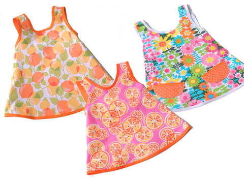 Download Dress Pack Betty, Flora & Amelie - 5-12yr - PDF sewing pattern immediately at Makerist