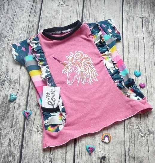 Mädchenshirt Curly - Nähanleitungen bei Makerist sofort runterladen