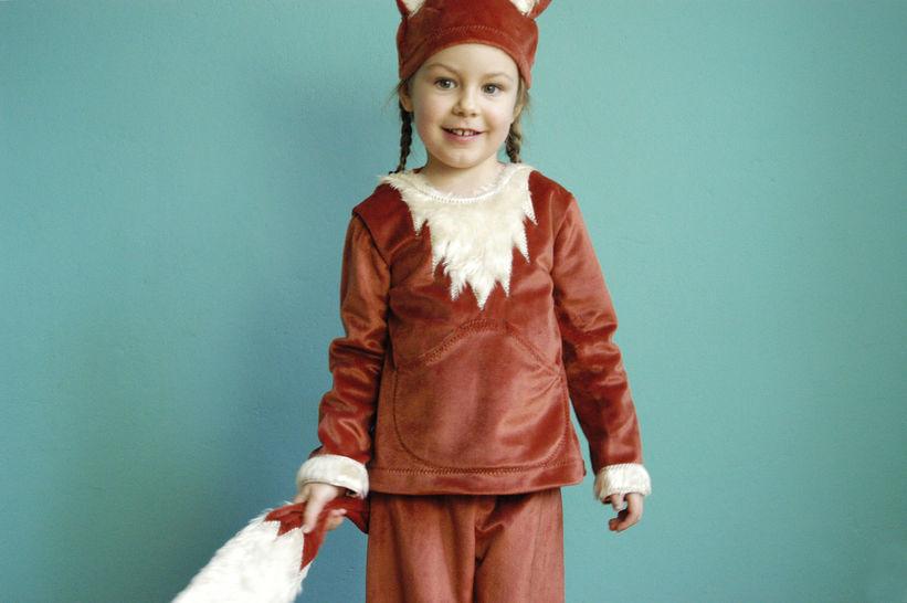 Nähanleitung und Schnittmuster Kinderkostüm Fuchs