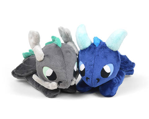 Download Dragon Plush Toy Sewing Pattern Reclining immediately at Makerist