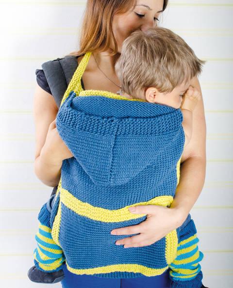 Cover für Babytrage mit Stulpen Strickanleitung bei Makerist sofort runterladen