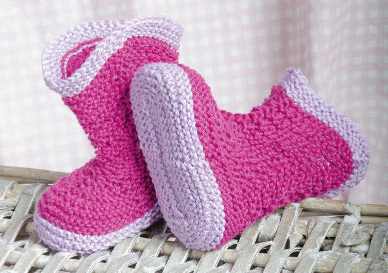 Peppige Baby-Stiefelchen Strickanleitung - Strickanleitungen bei Makerist sofort runterladen