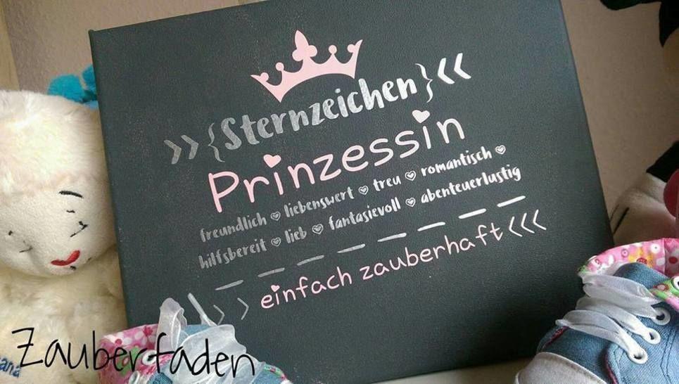 """Plotterdatei """"Sternzeichen Prinzessin"""" - DXF, PNG, SVG - Plotterdateien bei Makerist sofort runterladen"""