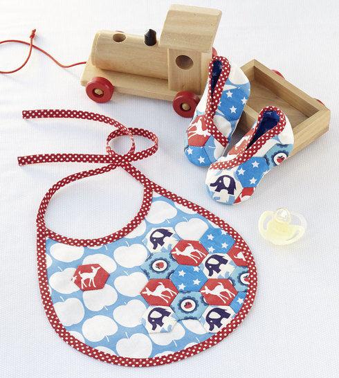 Lätzchen und Babyschuhe Nähanleitung mit Schnittmuster