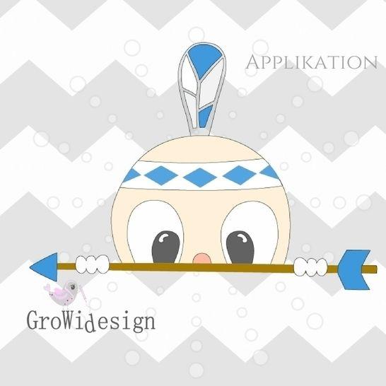 Applikationsvorlage Indianerboy inkl. Mini-Lizenz - Nähanleitungen bei Makerist sofort runterladen