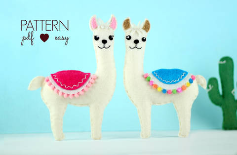 Download Llama Felt Sewing Pattern  immediately at Makerist