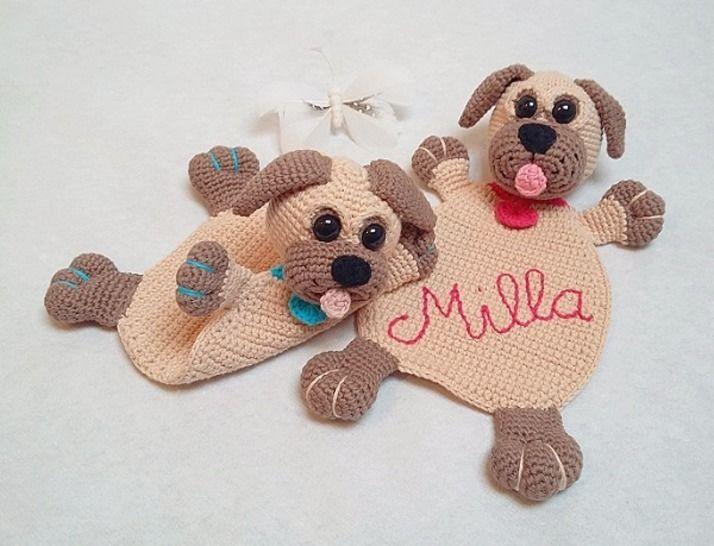 Häkelanleitung Schmusetuch Hund Milla - Häkelanleitungen bei Makerist sofort runterladen