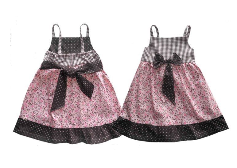 Download ALINA bow dress - PDF sewing pattern - International size: 6 mo-4/5 yr - Sewing Patterns immediately at Makerist