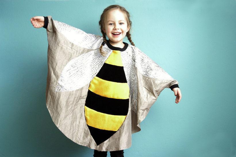 Nähanleitung und Schnittmuster Kinderkostüm Biene