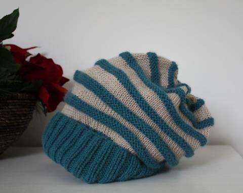 Yahriel – Mütze / Beanie für Frauen mit Streifen - einfach - Strickanleitung bei Makerist sofort runterladen