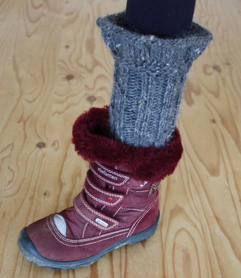 Bariel – Stiefel Stulpen für Mädchen - Anfänger - Strickanleitung bei Makerist sofort runterladen
