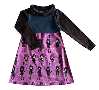 Download Lara dress with 3 collar options - 8 sizes from 6mo-4/5yr - Sewing Patterns immediately at Makerist