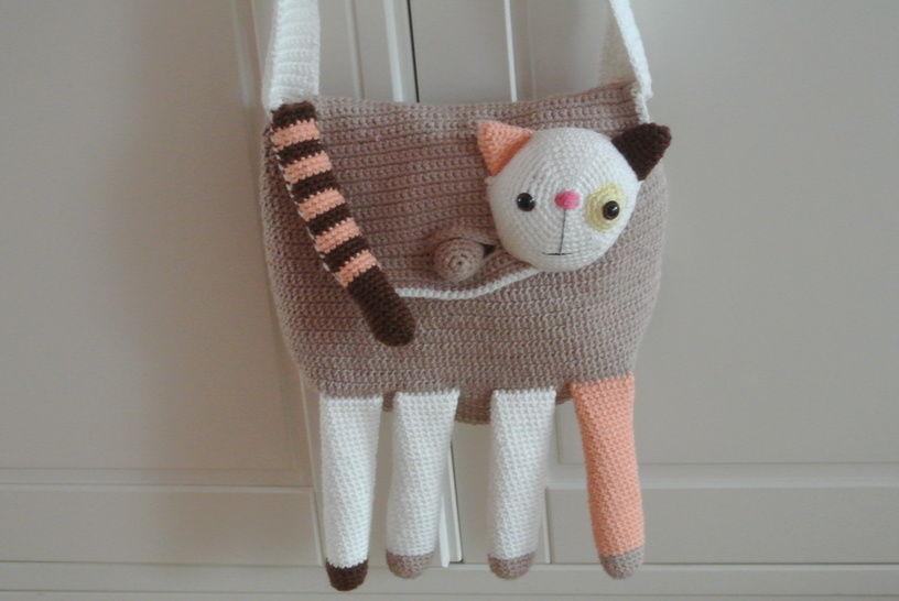 Tasche Katze - Häkelanleitungen bei Makerist sofort runterladen