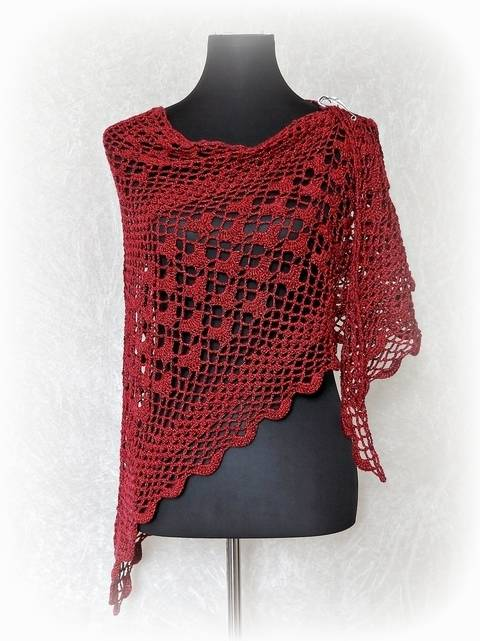 Download Crochet pattern triangle shawl, wrap Fuego immediately at Makerist