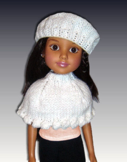 "Download Capelet and Beret for 18"" slim dolls. BFC Ink. - Knitting Patterns immediately at Makerist"