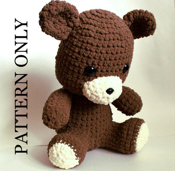 Download Teddy Bear Crochet Pattern.  Giant, Soft, and Huggable - Crochet Patterns immediately at Makerist