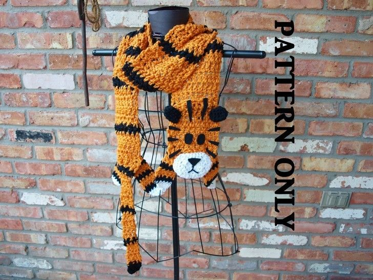 Download Crochet Tiger Scarf - Crochet Patterns immediately at Makerist
