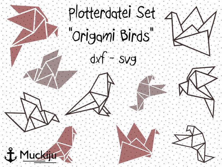 "Plotterdatei ""Origami Birds"" Set - Plotterdateien bei Makerist sofort runterladen"