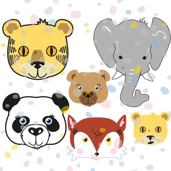 Plottervorlage Fuchs, Panda, Elefant, Tiger, Bär, Löwe - Plotterdateien bei Makerist sofort runterladen