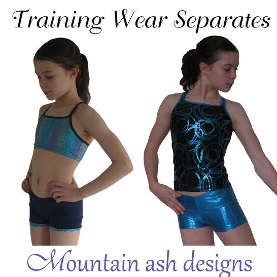 Download Training Wear Separates 1 Crop Top, Singlet & Shorts for Gymnastics & Dance in Girls Sizes 2-14 - Sewing Patterns immediately at Makerist
