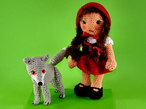 Download little red riding hood and the wolf crochet pattern - Crochet Patterns immediately at Makerist