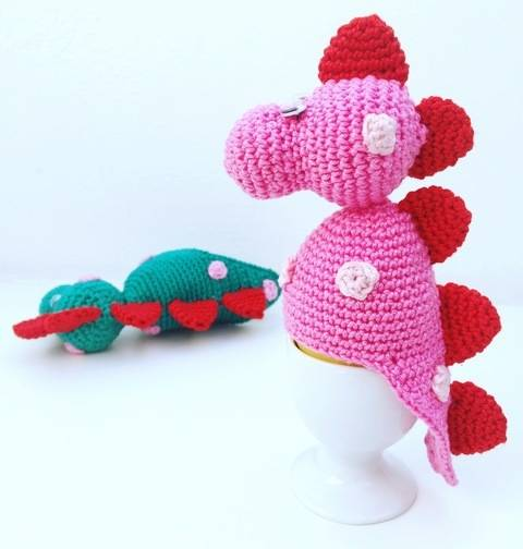 Eierwärmer Dino bei Makerist sofort runterladen