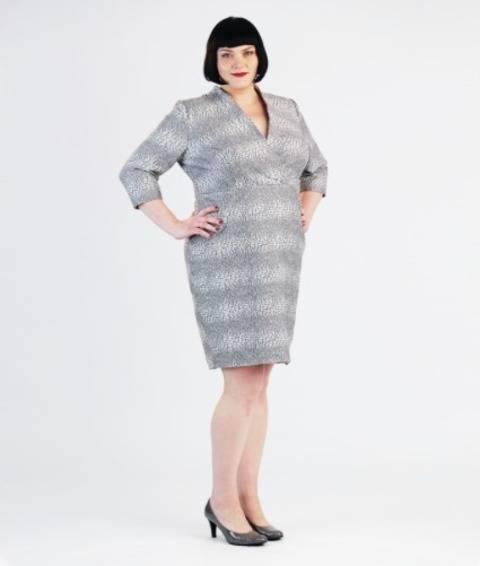 Schnittmuster und Nähanleitung Kleid Jeannie für große Größen bei Makerist sofort runterladen