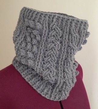 Download Crochet aran cowl, scarf, wrap, Pattern No21, in both UK and US crochet terms - Crochet Patterns immediately at Makerist