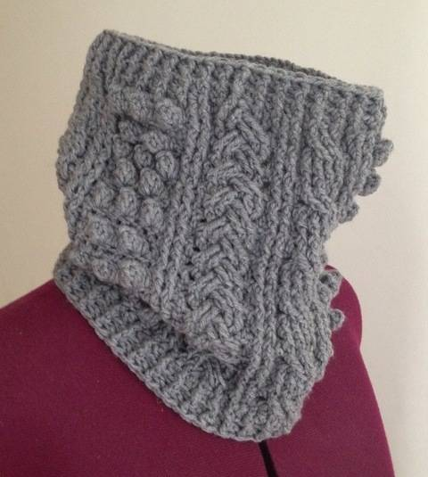 Download Crochet aran cowl, scarf, wrap, Pattern No21, in both UK and US crochet terms immediately at Makerist