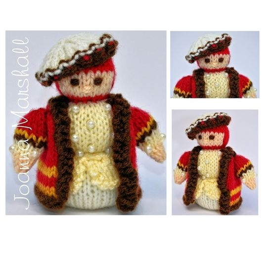 Download Knitting Pattern - Tudor Gentleman 1536 Doll  - Knitting Patterns immediately at Makerist