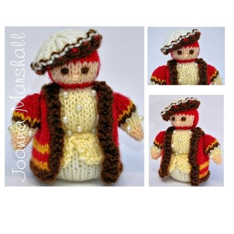 Download Toy Knitting Pattern - Miniature King Henry VIII Doll immediately at Makerist