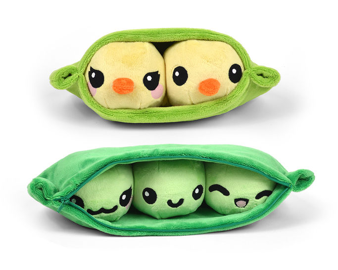 Download Pea Pod with Chick Peas Plush Toy Sewing Pattern - Sewing Patterns immediately at Makerist